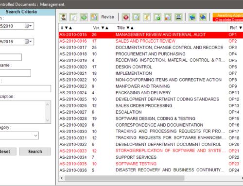 ISO 17025 Documentation within Matrix Gemini LIMS – Document Management