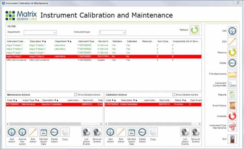 Instrument Calibration & Maintenance