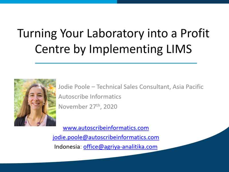 Turning Your Laboratory into a Profit Centre by Implementing LIMS